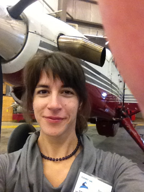 Samantha with the Turbine powered De-Haveland Beaver, she flies in the Arctic