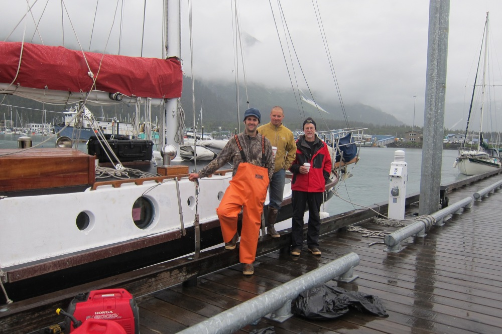 The 2012 Kodiak Crew, just before castoff.