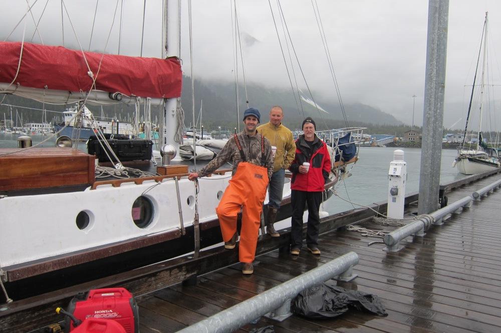The 2012 Kodiak Crew, just before castoff.