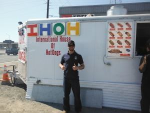 Jason at International house of hot dogs
