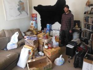 Jasons food pile