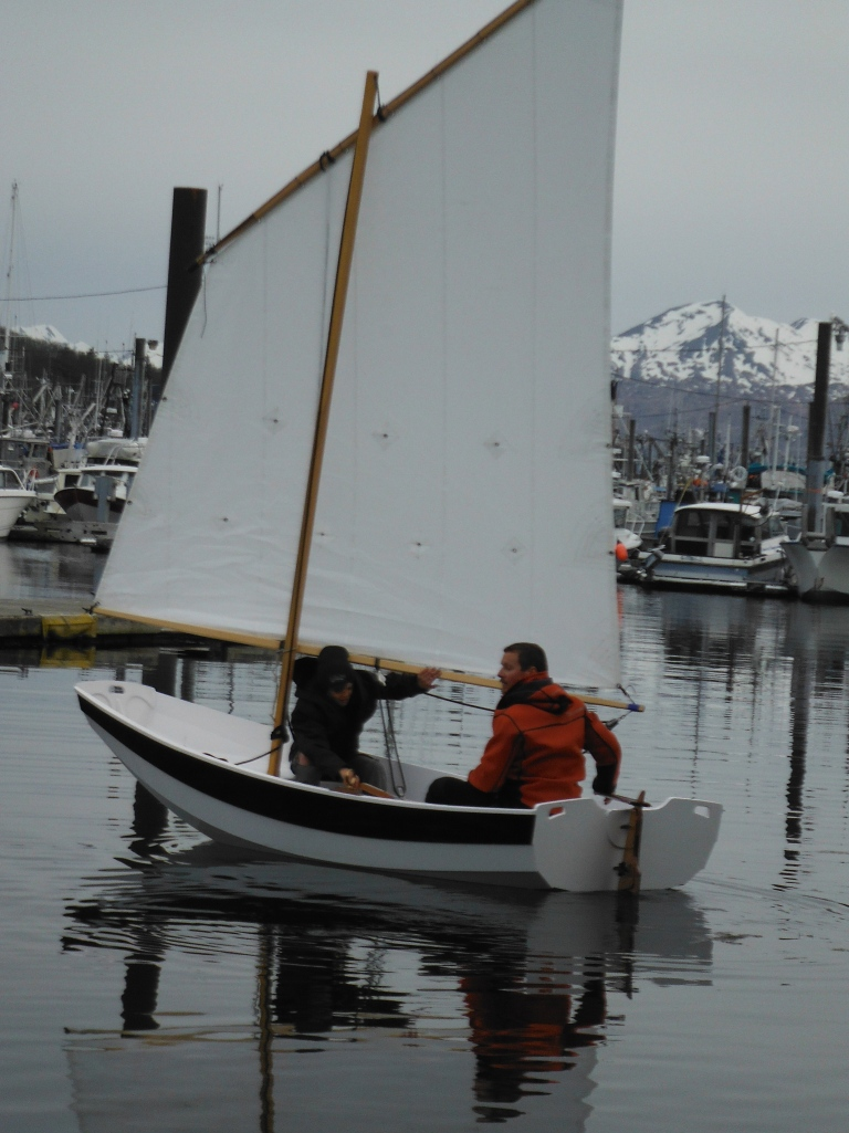 The Scarlet Letter glides in a mere breath of wind, with a responsive helm.  Absolutely beautiful...