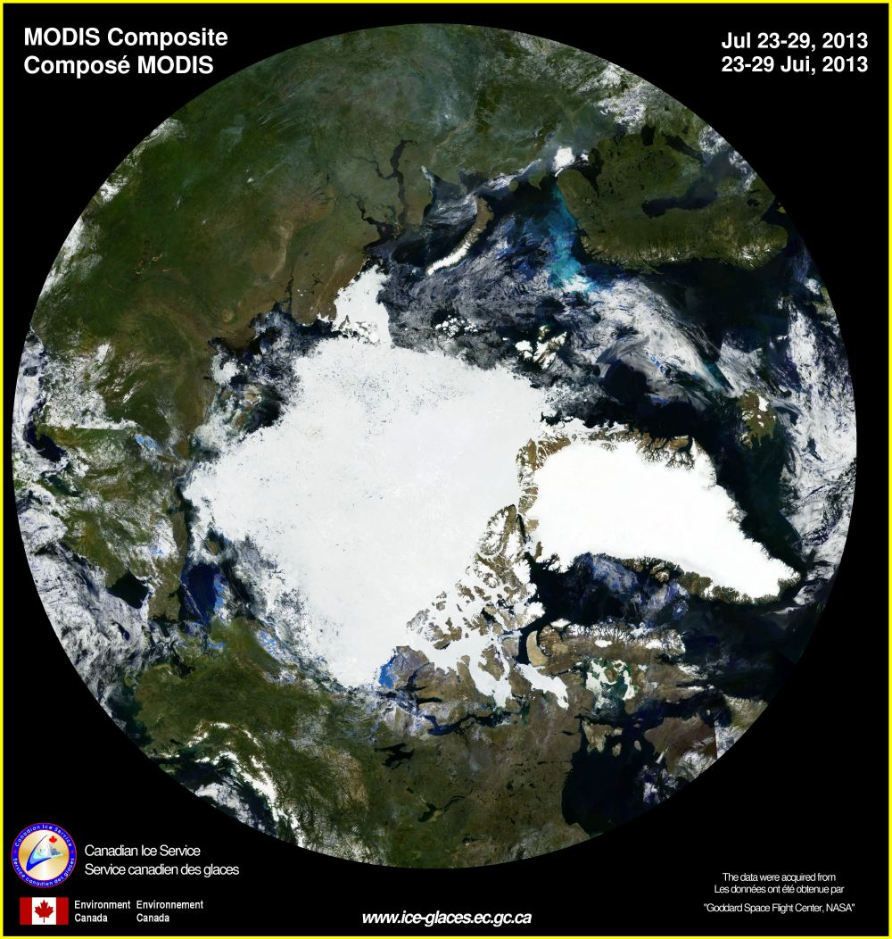 Todays sat image.  Talk about a narrow lead.  This years big ice has dictated a plan change.