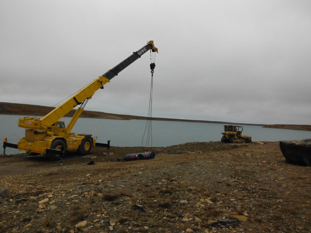 The crane site.