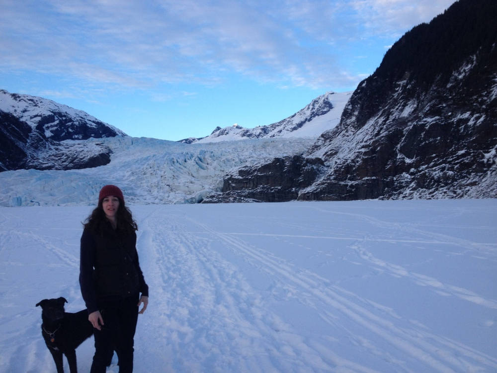 Samantha at Mendenhall Glacier