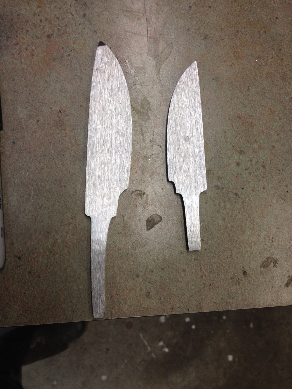 Cut out , flattened and shaped.