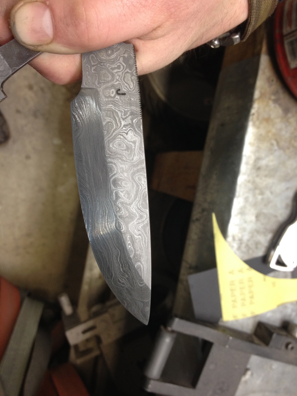 My blade Acid etched as well