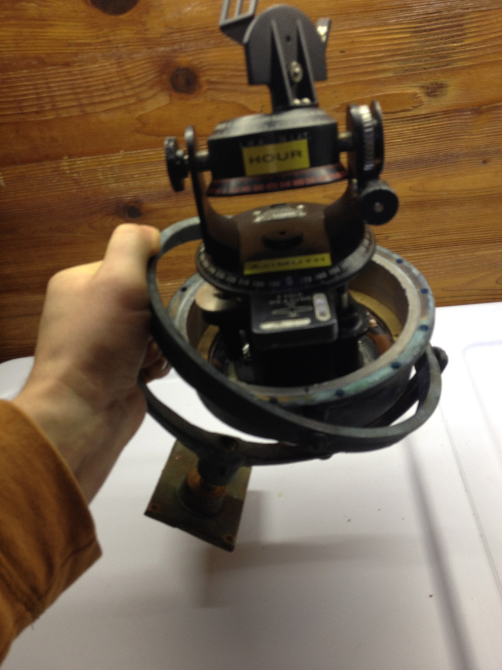 The Gimbal mounted Astro Compass!