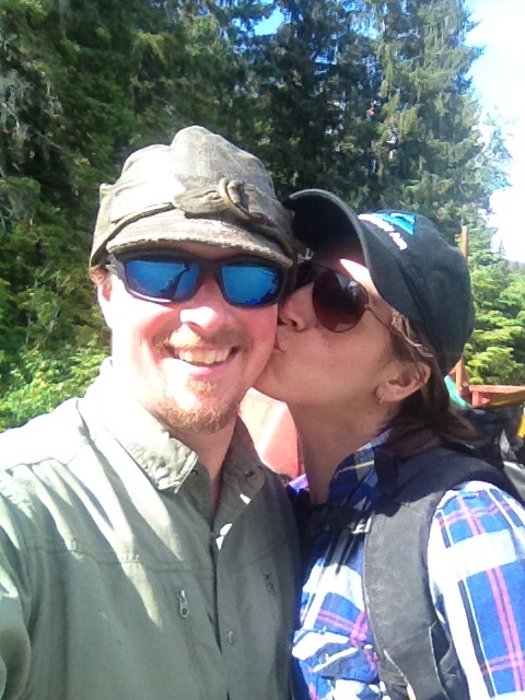Samantha and Jesse.  Exploring the wilderness of Southeast Alaska