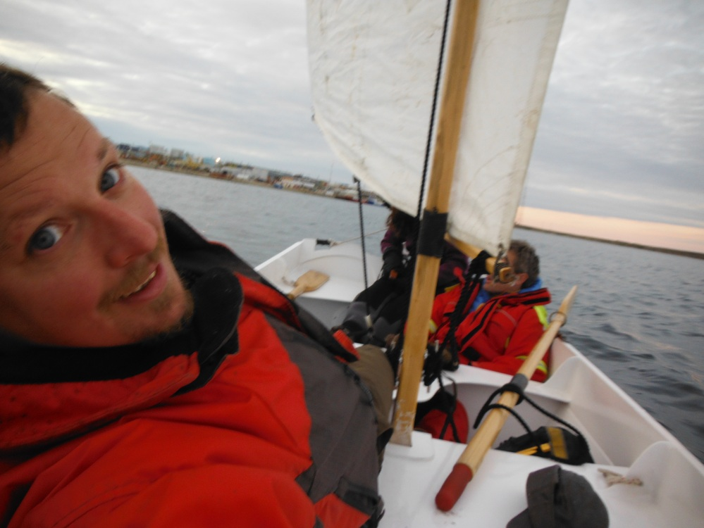 Sailing with our friend Corey.