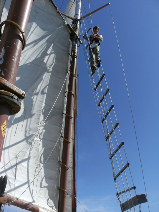 Isaac in the rigging at 12