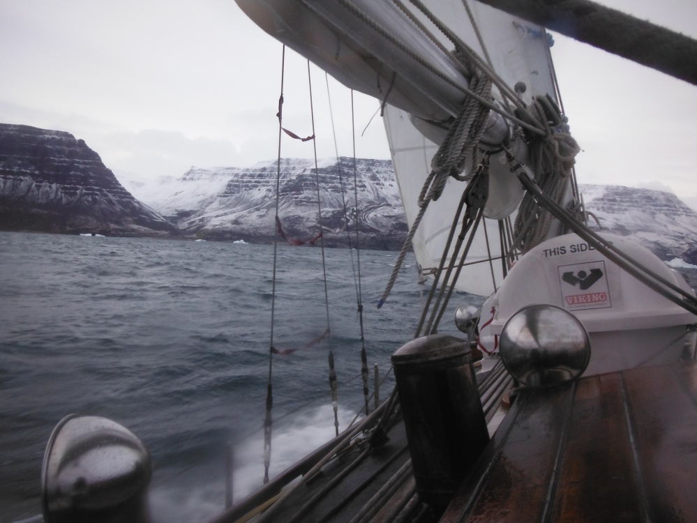 Nearly touching the West Coast of Greenland and the completion of our 2013-2014 Northwest Passage transit.