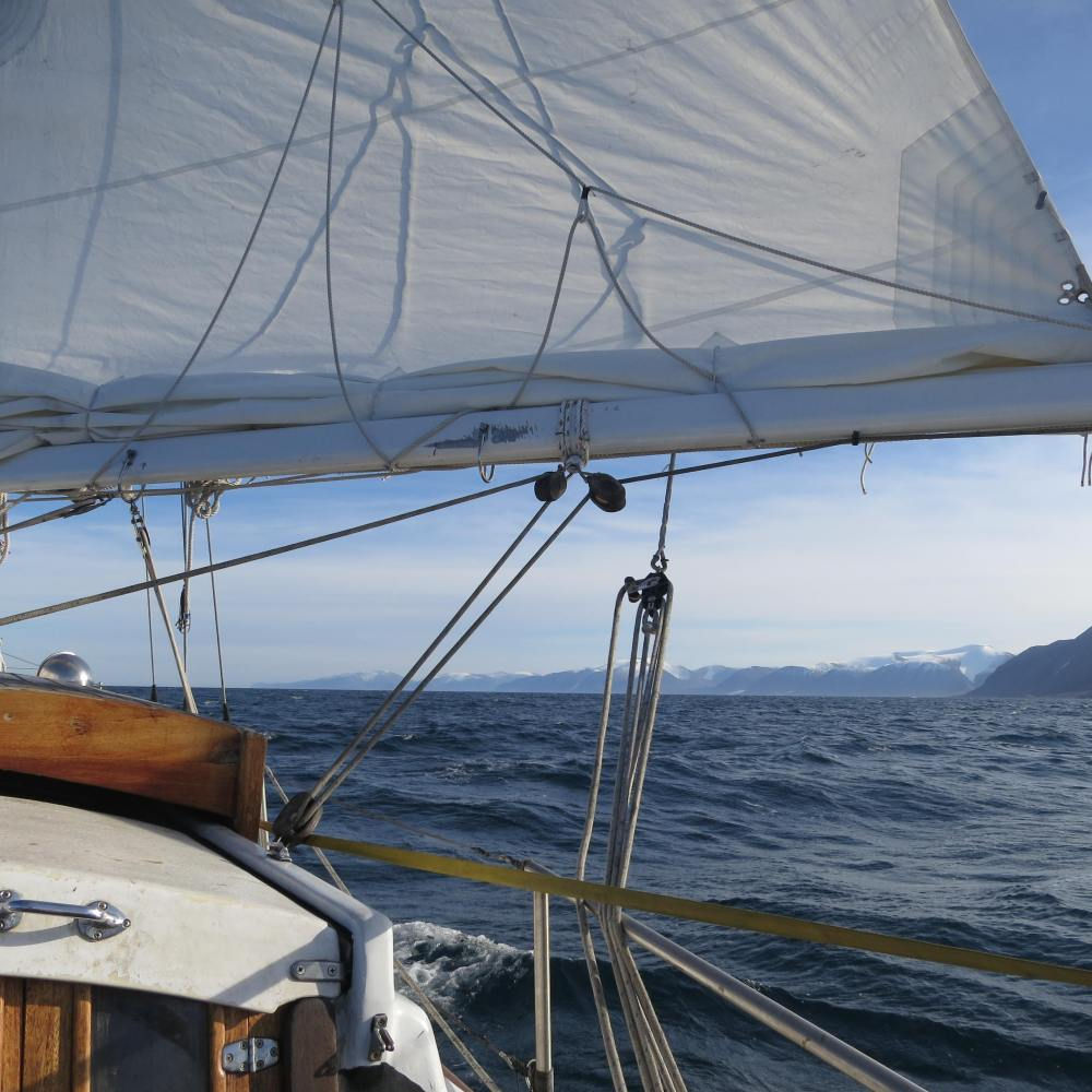 Sailing East from Pod Inlet