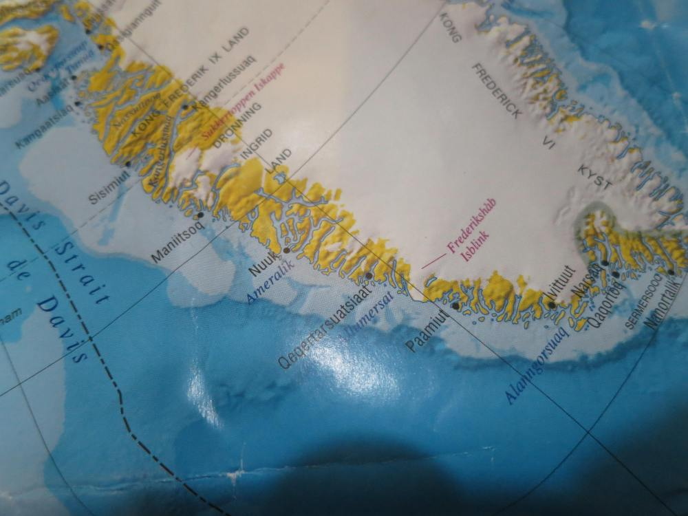 The southern west coast of Greenland