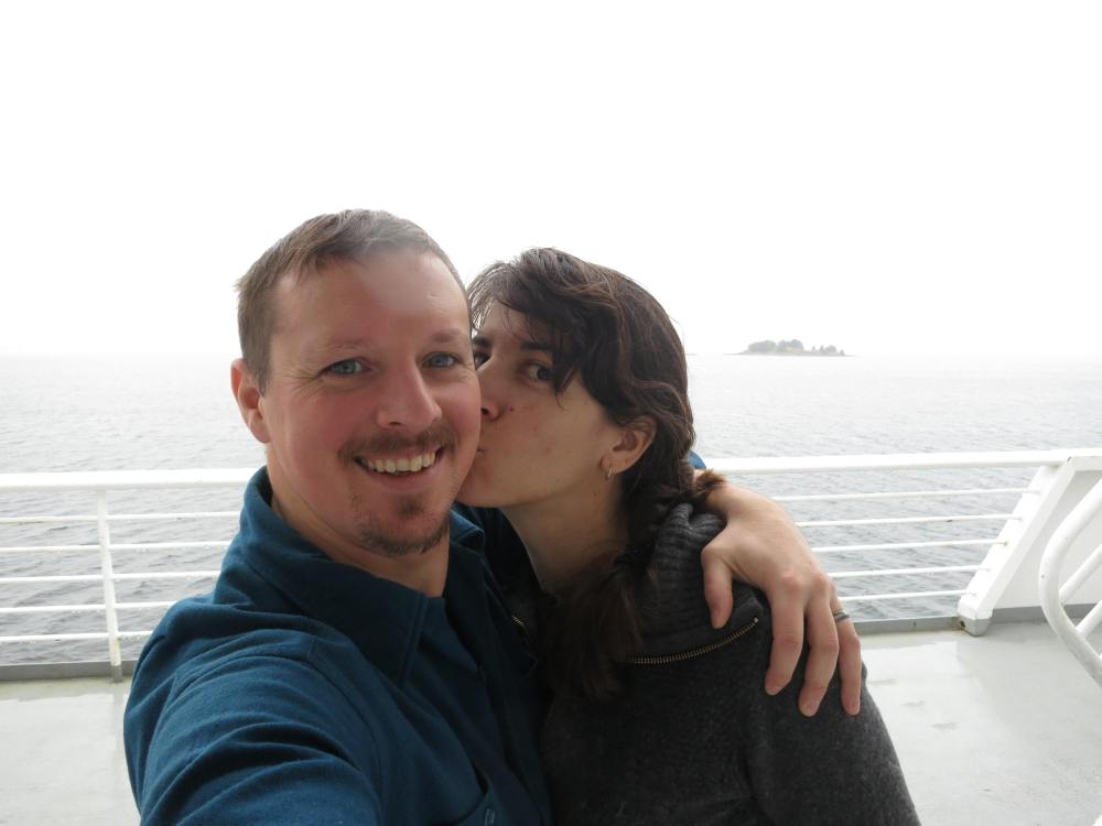 On the Ferry near Ketchikan, where my sailing all began.  We have come full circle!