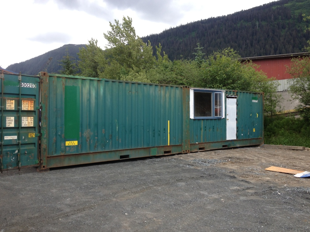 Container home in progress
